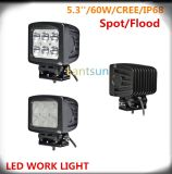 60W Square Auto LED Work Light Spot Flood Beam