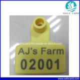 レーザーによって刻まれるバーコードのシリアル番号の家畜RFIDの耳札