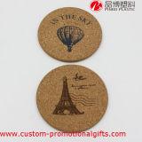 Práctico de costa redondo del corcho del modelo del globo de aire caliente del regalo de la promoción