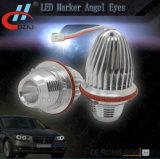 Ojos del ángel de la etiqueta de plástico de E39 10W Canbus LED con Emark