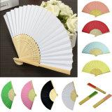Der 17 Farben-lockert chinesisches faltendes Bambusventilator-Retro Handpapier Hochzeits-Tanzen-Dekor auf