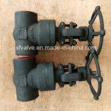 Válvula de porta de aço forjada de alta pressão da extremidade da soldadura do selo de pressão