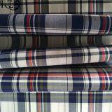 Baumwollpopelin-gesponnenes Garn gefärbtes Gewebe 100% für Hemden/Kleid Rls60-7po