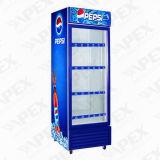 Einzelne Tür-Bildschirmanzeige-Glaskühlvorrichtung für aufrechten Schaukasten des GetränkLG-550f