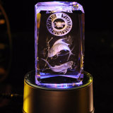 máquina de grabado del laser cristalino 3D