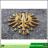 Metallo Gold Emblem Decoration per Outdoor