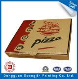 Het bruine Vakje van het Voedsel van het Document van Kraftpapier Golf voor de Verpakking van de Pizza