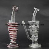Entfernter Offsetmund-transparentes und buntes Glaswasser-Rohr
