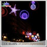 Luzes ao ar livre da decoração das skylines da rua da corda do Natal do diodo emissor de luz