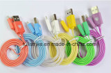 2015 USB Data Cable Customized Colorful 5pin Micro высокого качества с СИД Light