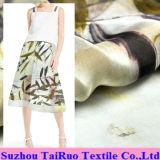 Chiffon de seda impresso reativo de 5.5mm para a tela do vestuário