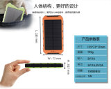 Universele 5V 2A 1USB 10000mAh Panel ReservePortable Battery Solar Charger met 3 in 1 Cable