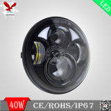 lámpara auto negra de 5.75 '' LED LED para el coche