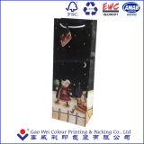 Netter Papierträger-Beutel/Papier-verpackenwein-Beutel/Weihnachtspapierbeutel für Weihnachtstag
