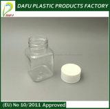 Бутылка микстуры оптового любимчика 100ml пластичная квадратная ясная