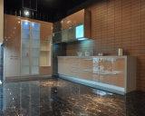 方法デザイン高い光沢のある食器棚