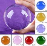 Esfera de cristal decorativa de sete cores do vário tamanho