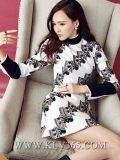 Nouveau Spring Women Clothes Fashion Long Sleeve Casual Dress pour Women