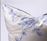 Утка роскошной крышки Pirnting цветка серая вниз Pillow для дома