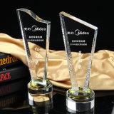 Трофей пожалования новой модели кристаллический с изготовленный на заказ логосом