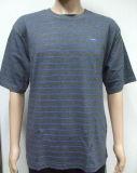 면 줄무늬 남자 간단한 시리즈 t-셔츠