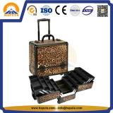 Caja cosmética de aluminio de la carretilla profesional del maquillaje (HB-3302)