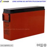 Bateria terminal da parte dianteira do gel de China 12V150ah, para o sistema Telecom e solar