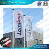 Hängende 2 mit Seiten versehene Bildschirmanzeige-Straßen-Markierungsfahnen-Straßen-Fahne (M-NF02F06013)