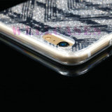 Nueva caja del teléfono celular del polvo TPU de Gliter de la pintura de IMD 3D para el iPhone 5/6/6p