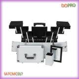 Caisse de train argentée de bagage de maquillage de voyage pour les produits de beauté (SATCMC017)