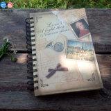 Тетрадь книга в твердой обложке спирального изгиба/школы Diary/A5 (BX0403)