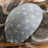 Человеческих волос система Mens польностью поли Coated, Toupee части волос