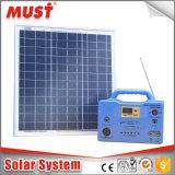 格子携帯用小型太陽エネルギーシステムを離れた工場価格DC 20W 30W