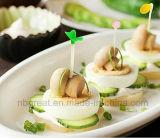 Pequeñas forkes lindas y coloridas de la fruta en el estilo vegetal