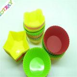 Couvre-tapis antiadhésif de traitement au four de silicones de forme populaire de cuvette, moulage de gâteau de traitement au four de silicones