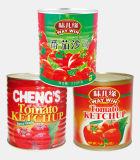 プラスチックびんの3250gによって缶詰にされるトマト・ケチャップ