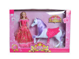 Horse (H1988010)를 가진 En71 Approval Kids Toy Plastic Fashion Doll