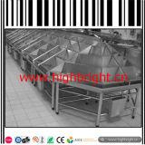 Prateleiras de exibição de frutas e vegetais dobráveis de metal supermercado