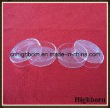 Plato de Petri circular claro del vidrio de cuarzo de la silicona para derretir