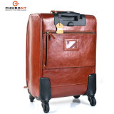 Chubont High Qualilty Cow Leather Carry Luggage Trolley