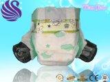 Couche-culotte biodégradable remplaçable de bébé d'OEM avec la bande de Velcro