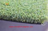 Os bens artificiais da grama do golfe ostentam o relvado sintético