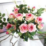 装飾(SW03333)のためのビロードの結婚式のローズの人工的な花