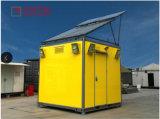 太陽電池パネルが付いている10ft/20ft装置の避難所
