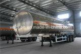 알루미늄 반 물자 42000L 석유 탱크 트레일러