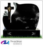 Pietra tombale irlandese della traversa celtica del granito nero dello Shanxi per il memoriale