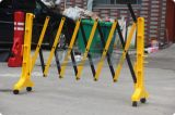 Barreira de expansão da estrada plástica amarela & preta do tráfego do controle de multidão