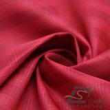 Agua y de la manera de la chaqueta tela tejida chaqueta Viento-Resistente 100% del filamento de la Mar-Isla del poliester del telar jacquar de la tela escocesa abajo (X041)