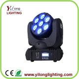 luzes principais moventes do diodo emissor de luz do casamento da lavagem de 7X10W RGBW