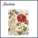 Bolsas de papel impresas 4c retras del regalo del portador del diseño de las flores que hacen compras